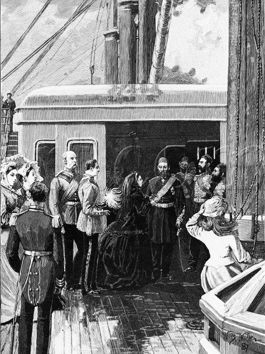 """Mparatoriçe Viktoria Sultan """"Order Of The Garter"""" Nişanını Takdim Ederken"""