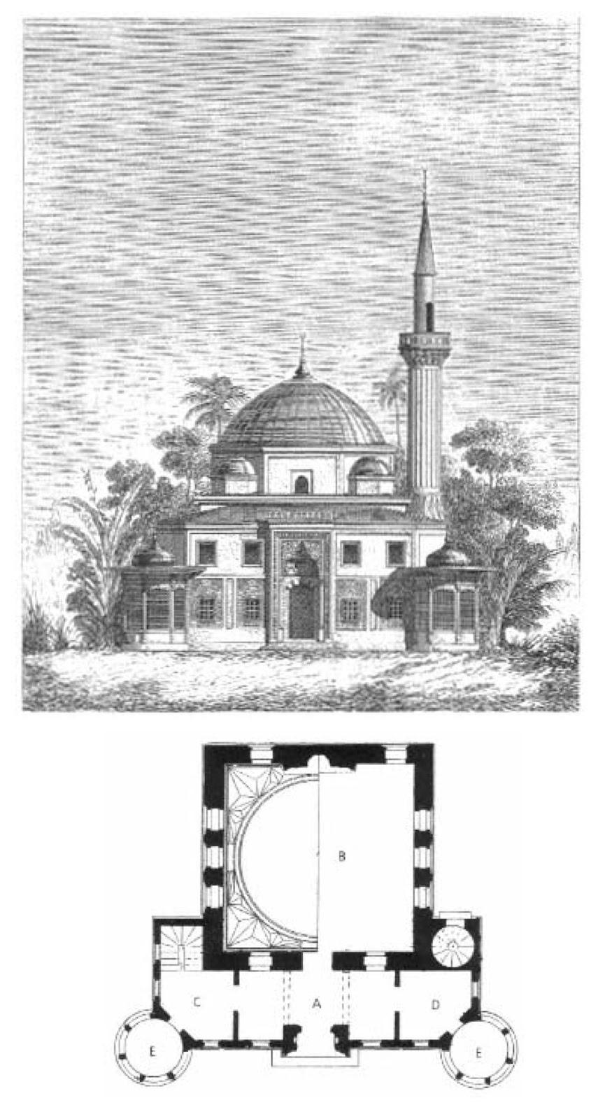 1867 Paris Sanayi Fuarında Türk Pavyonundaki Bursa Yeşil Caminin Kopyası Olan Cami