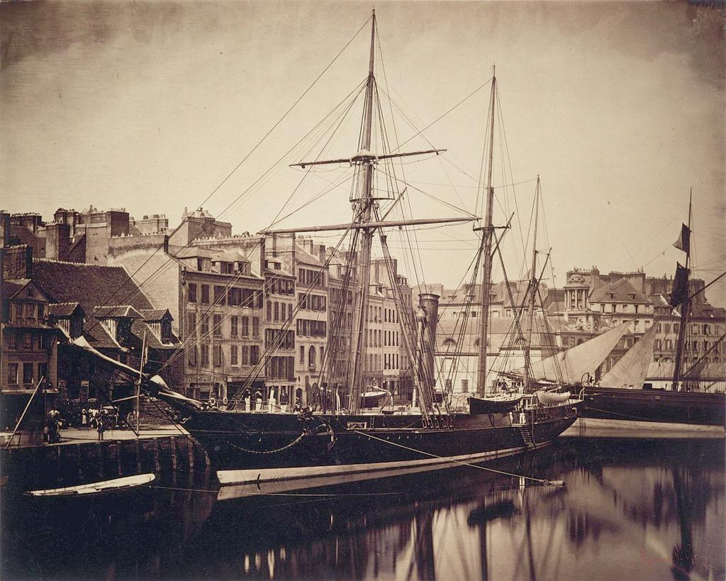 """Abdülaziz İmparatorluk Yatı """"La Reine Hortense"""" Le Havre Limanında 1856"""