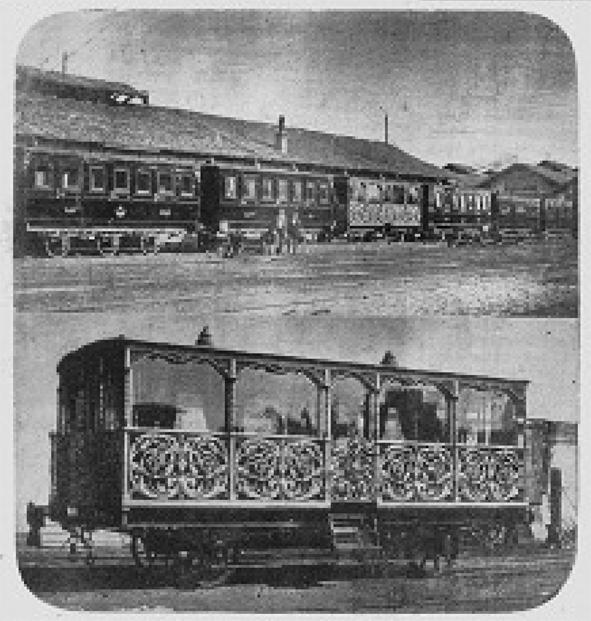 Eugenienin Sultan Abdülazize Hediyesi Tren