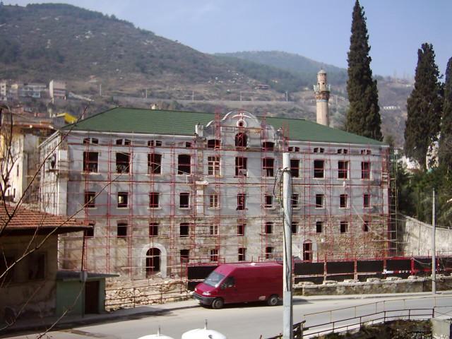 Bursa Fabrika I Hümayun Moda Yüksek Okulu . Eski Hali. Resterasyon Yapılırken. Bursa Belediyesi
