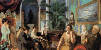 Abdülmecid Efendinin Haremde Beethoven Eserinde Arka Planda Görünen Atlı Heykel Abdülaziz Heykelidir Harem Bethoven