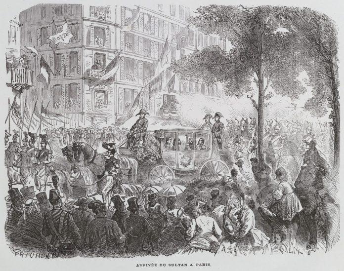 Osmanlı Padişahı Sultanı Abdülazizin Avrupa Fransa Seyahati 1867 Arrivée Du Sultan Abdul Aziz Paris Fransız Kralı Ve Kraliçe
