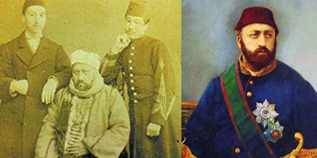 Sultan Abdülaziz İntihar Mı Etti. Mason Cinayeti Kurban Gitti. Son Foto Abdülaziz'in Arkasında Iki Saray Uşağı Sultanın Omuzuna Dirsek Dayamış şekilde Poz Veriyor